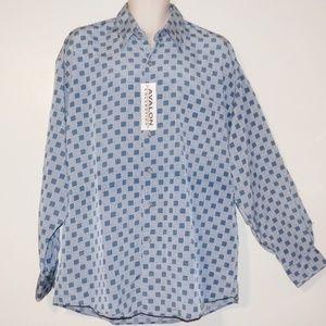 Avalon Shirt L Mens Blue Button Long Sleeve  NWT
